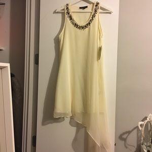 Asymmetric Jeweled/Beaded Neck Akira Dress Size S